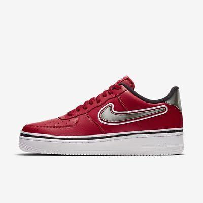 Details about Nike Air Force 1 Low 07 LV8 NBA Rockets Bulls Varsity Red White Black AJ7748 600