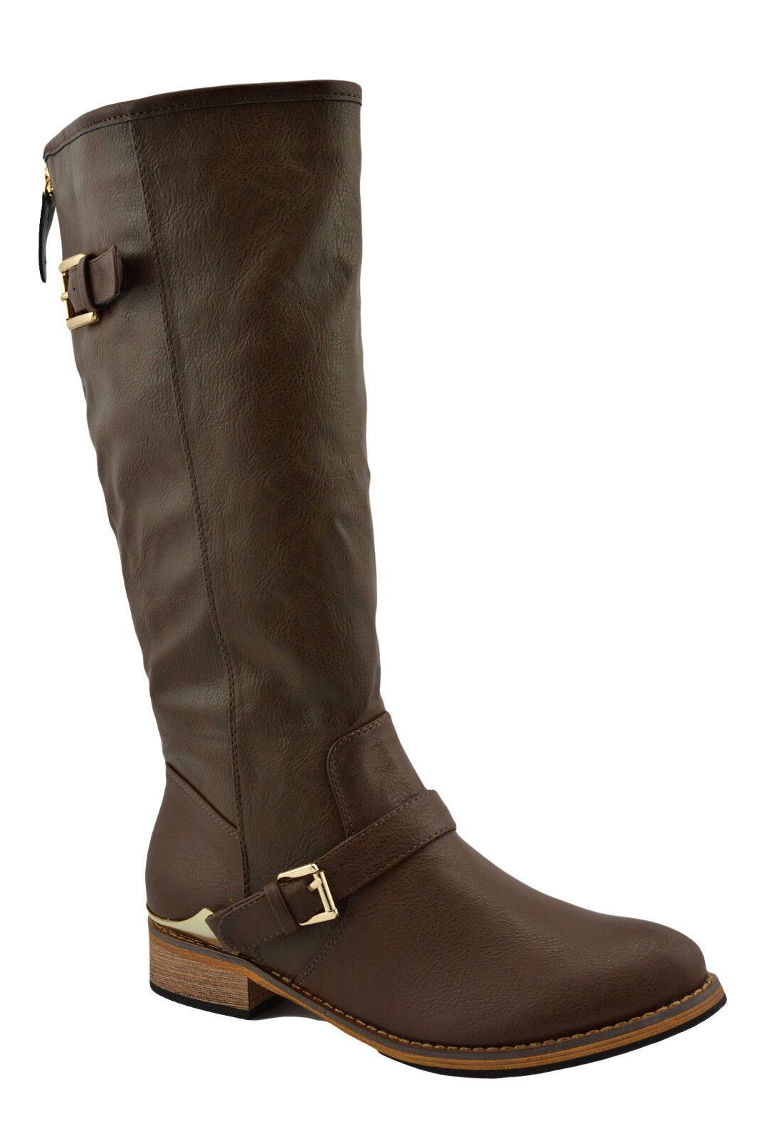 150 Marrón De Moda De Mujer Mujer Mujer Zapatos botas De Montar Rodilla Alta Nueva Colección  tienda de pescado para la venta