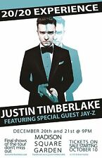 """JUSTIN TIMBERLAKE/JAY-Z """"20/20 EXPERIENCE""""2014 NEW YORK CITY CONCERT TOUR POSTER"""