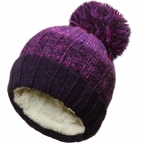 Mens Ladies Womens Insulated Thermal BOBBLE HAT Winter Warm Chunky Pom Pom