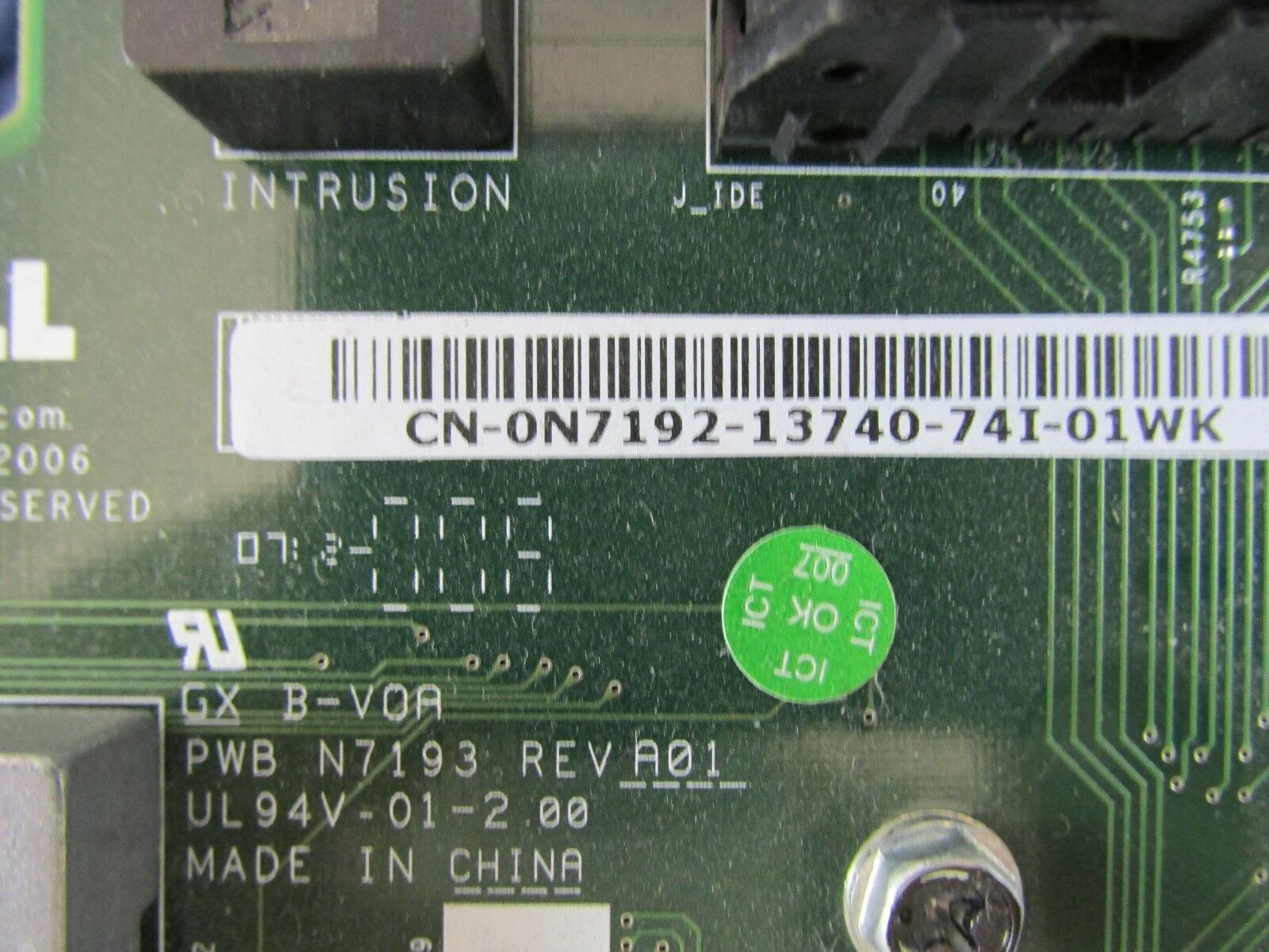 NEW DELL POWEREDGE 2950 PCI-E SIDEPLANE RISER BOARD N7192 CN-0N7192 N7193