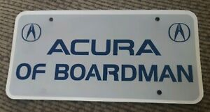 Acura Of Boardman >> Details About Acura Of Boardman Car Dealership Dealer License Plate Youngstown Ohio Promo Rare