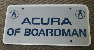 Acura Of Boardman >> Acura Of Boardman Car Dealership Dealer License Plate Youngstown Ohio Promo Rare Ebay
