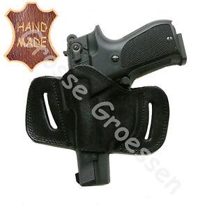 main pistolet avec noir ᄄᄂ la universelle ᄄᆭtui Up 9mm Menotte Pull en cuir R435AjL
