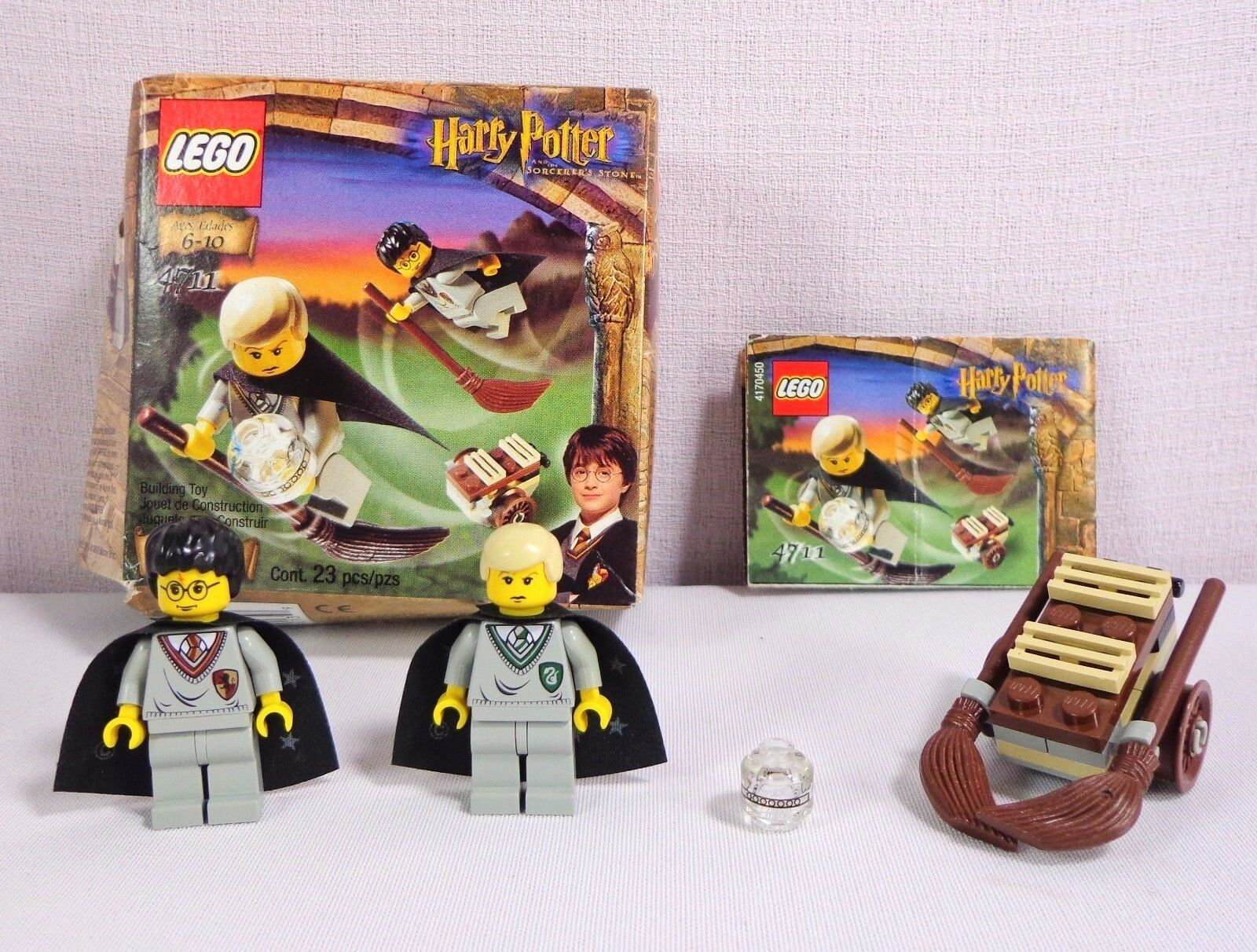 Lego Harry Potter 4711 Set Flying Lesson Sorcerers Stone Draco Malfoy with Box