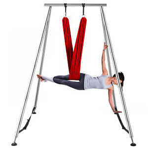 Aerial-Stand-Portable-Yoga-Swing-Stand-Fitness-Frame-Indoor-w-6M-Aerial-Hommock