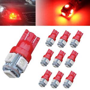 10x-T10-5-SMD-Wedge-LED-Red-Super-Bright-Car-Lights-Bulb-W5W-194-168-2825