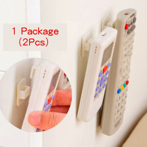 2Pcs-Self-Adhesive-Sticky-Hook-TV-Remote-Control-Key-Wall-Sticky-Hangers-Holder