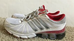 Details about Men's Adidas Bounce Running Workout Walking Shoes Size 12 White/red