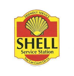 034-SHELL-SERVICE-STATION-034-PROMO-STICKER-DECAL-PETROL-LOGO-GARAGE-GAS-OILS