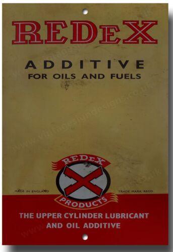 REDEX  ADDITIVE FOR OILS AND FUELS METAL SIGN.VINTAGE MOTORCYCLE,GARAGE SIGN.