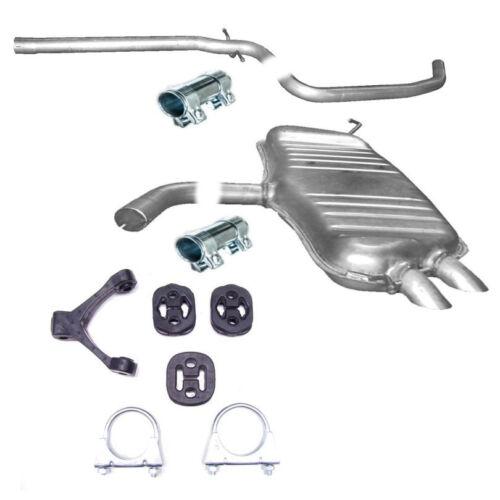 Mittelrohr Endtopf Auspuff Anbausatz für VW Touran 1.9 TDi Turbo Diesel