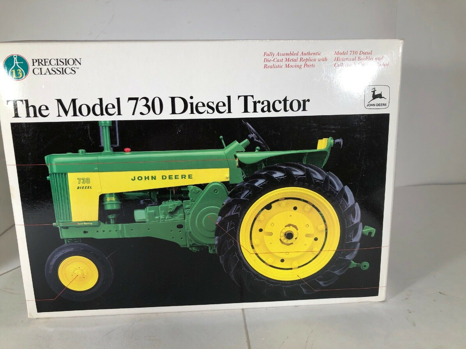 Ertl Precision Classics  13 John Deere Model 730 Diesel Tractor 1 16 NEW  SEALED