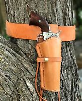 Tan Leather Holster And Belt Smooth Right Hand Leather Set 70200