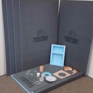 Image Is Loading 4x6 Waterproof Tile Ready Shower Kit TORTUGA Backer