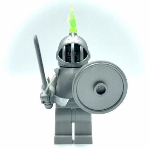 LEGO Grey Stone Knight Mini figure Middle Ages Armor Statue Casque 76382