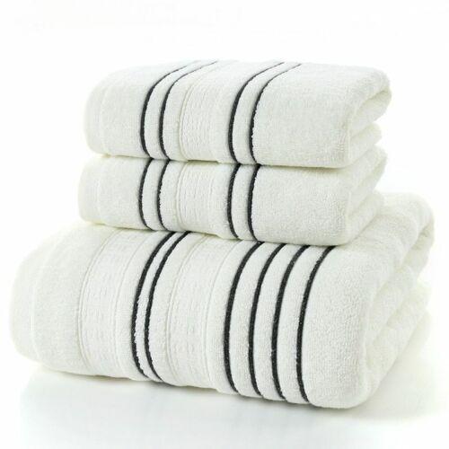 Cotton Bath Towel Simple Stripes Water Absorption Beach Soft Face Clothes Sets