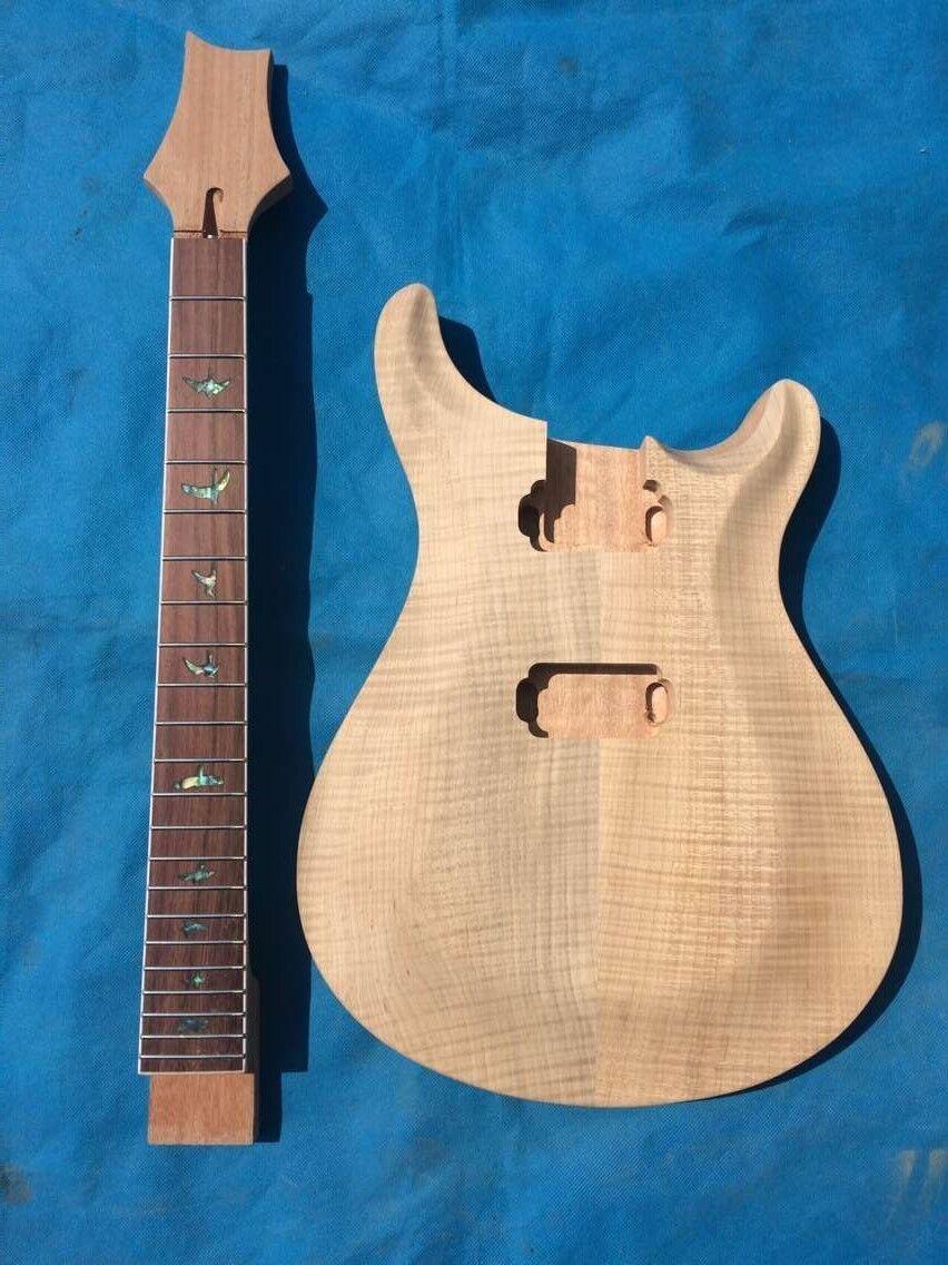 Neue Marke unfinish e-Gitarre Bausatz mit Flamme Ahorndecke (2-3 cm) von CNC