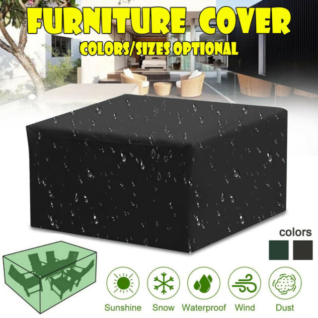 Garden Patio Furniture Protection Cover Outdoor Waterproof Table Rain Cover