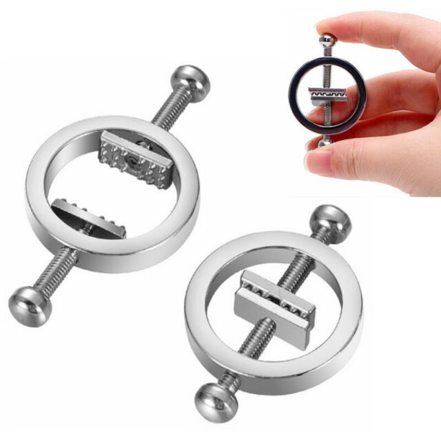 Metal Nipple Clamps Adjustable Non Pierced Nipple Rings for Women Breast Shield
