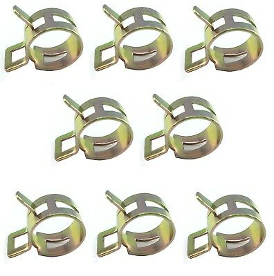 Yamaha RD350LC Fuel // Oil Line Clips 8mm BZP Pack of 8