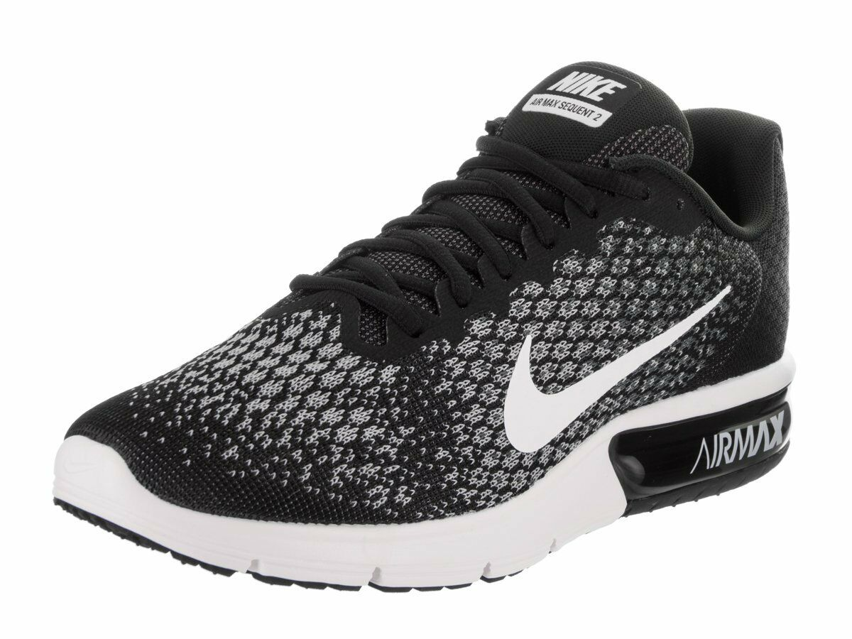 Nike Air Max Sequent Sequent Sequent 2 Running shoes Black White-Dark Grey-Wolf 852461 005 Sz 9.5 0a9b73