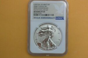 2006 P American Silver Eagle Reverse Proof NGC PF69 20th Anniversary