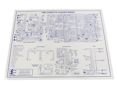 [WLLP_2054]   1966 Corvette Wiring Diagram 17 x 22 | eBay | 1966 Corvette Wiring Diagram |  | eBay