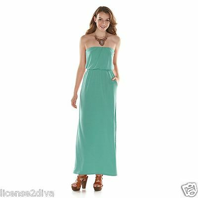 Designer Color Strapless Dress Seafoam Mint Green New Long Flow Free Ship Ebay