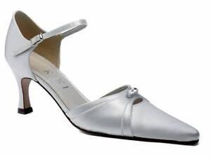 Marfil De Raso Dama De Honor Boda Zapato Tallas 3-8 Puro & Precioso Piedra Lunar
