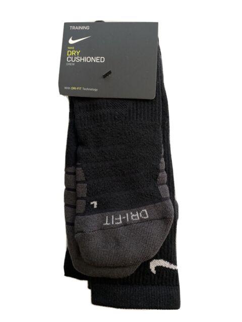 Nike Performance Cushion Crew Socks 1 Pair Mens sz XL 12-15 Black Dri Fit Wool