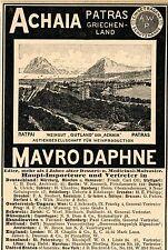 Weingut GUTLAND der ARCHAIA . Patras  MAVRODAPHNE  Historische Reklame von 1899
