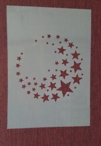 Pochoirs 2208 étoiles stanzschablone Shabby Stencil Stickers Muraux Peintures Murales Lune  </span>