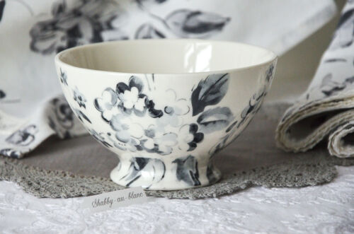 Greengate Bowl Schälchen Schale Amanda Dark Grey Müsli Porzellan Vintage Shabby