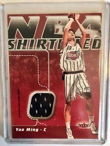YAO MING - 2003-04 Fleer Focus -  NBA Authentic Game Worn Jersey  /250 ROCKETS
