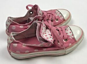 06122d61780a46 Converse All Star Chuck Taylor Low Top Sneakers Shoes Girls 13 Pink ...