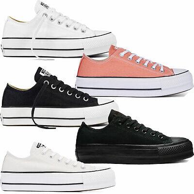 Converse Chuck Taylor ALL STAR CLEAN LIFT Ox Tessile Sneaker Donna Scarpe Plateau   eBay