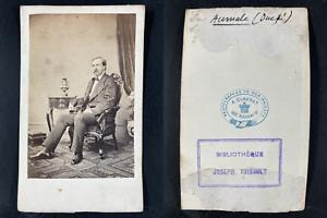 Claudet, London, Henri Orléans, duc Aumale Vintage cdv albumen print.Henri d&#