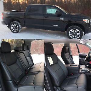 2014-2019-Toyota-Tundra-CrewMax-SR5-TRD-KATZKIN-Black-Leather-Seat-Covers-Kit