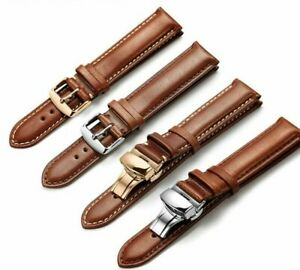 Calf-Watchband-19mm-20mm-21mm-22mm-24mm-Strap-For-Omega-Breitling-Tissot-Seiko