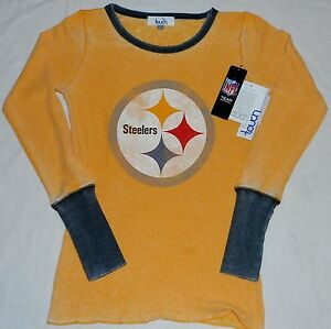 Image is loading PITTSBURGH-STEELERS-WOMEN-039-S-LONG-SLEEVE-THERMAL- f62d777321