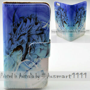 For-OPPO-Series-Blue-Dragon-Theme-Print-Wallet-Mobile-Phone-Case-Cover