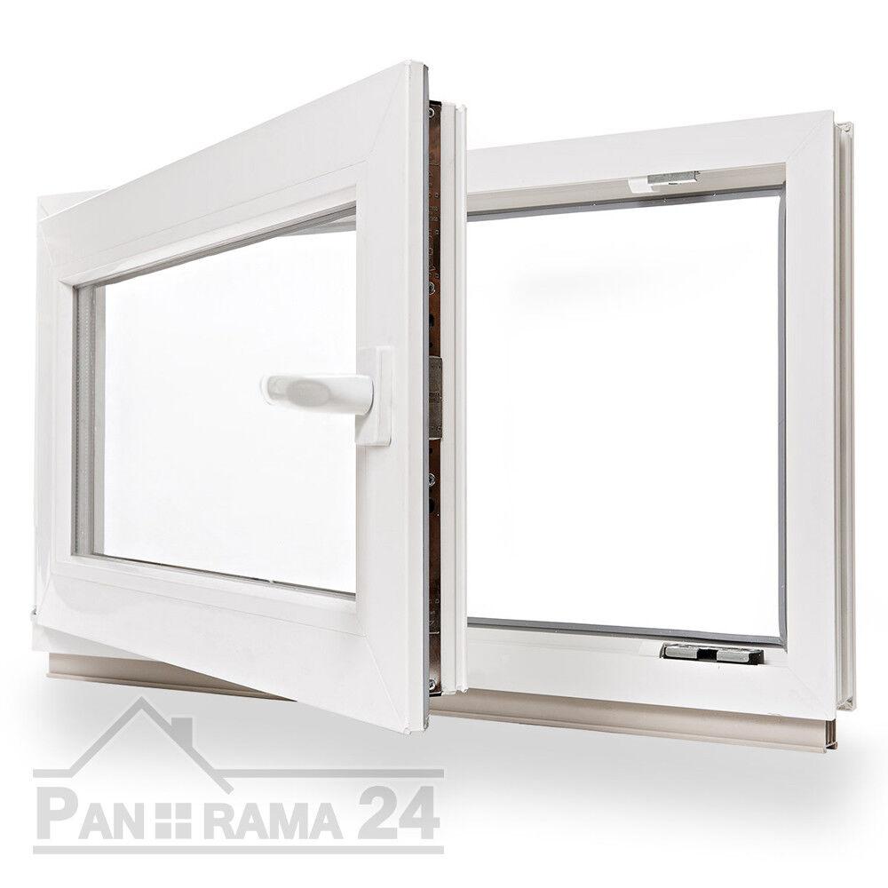 Kunststofffenster Kellerfenster Fenster Alle Höhen X 800 mm Breite 2-Fach