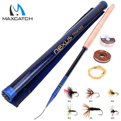 """Line Maxcatch Tenkara Rod Combo 12/' 13/' 13/'6/'/' 13'//14'7"""" 7:3 action Flies Kits"""