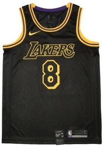 brand new 9053b d63e2 KOBE BRYANT LA LAKERS BLACK MAMBA CITY SWINGMAN #8 JERSEY ...