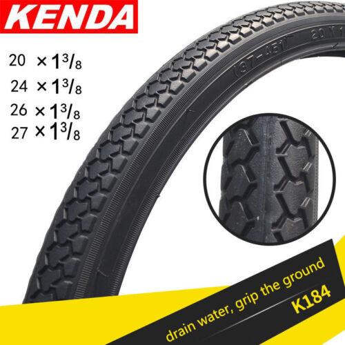 KENDA 1x Mountain Bike Road Bike Tire 20//24//26//27 inch*1 3//8 Tires Black Tire