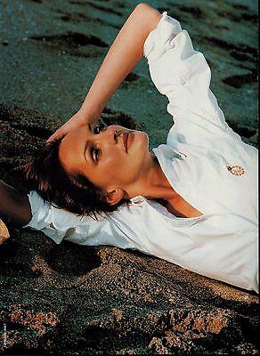 1999  RALPH LAUREN : SAFFRON ALDRIDGE  Magazine Print AD  2- pg *