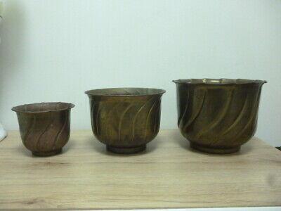 Umbra Trigg Wandvase Übertopf Blumentopf Schwarz//Messing Keramik//Metall 2er Set