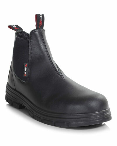Perf PB47 S3 SRC Safety Dealer Steel Toe Cap Boot Black Various Sizes