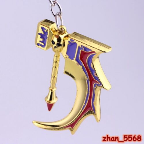 Game DOTA 2 Anti Mage Weapon Gold Basher Alloy Key Chains Keychain Keyring